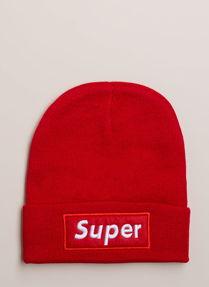 Feeling Just Super Patch Beanie RED