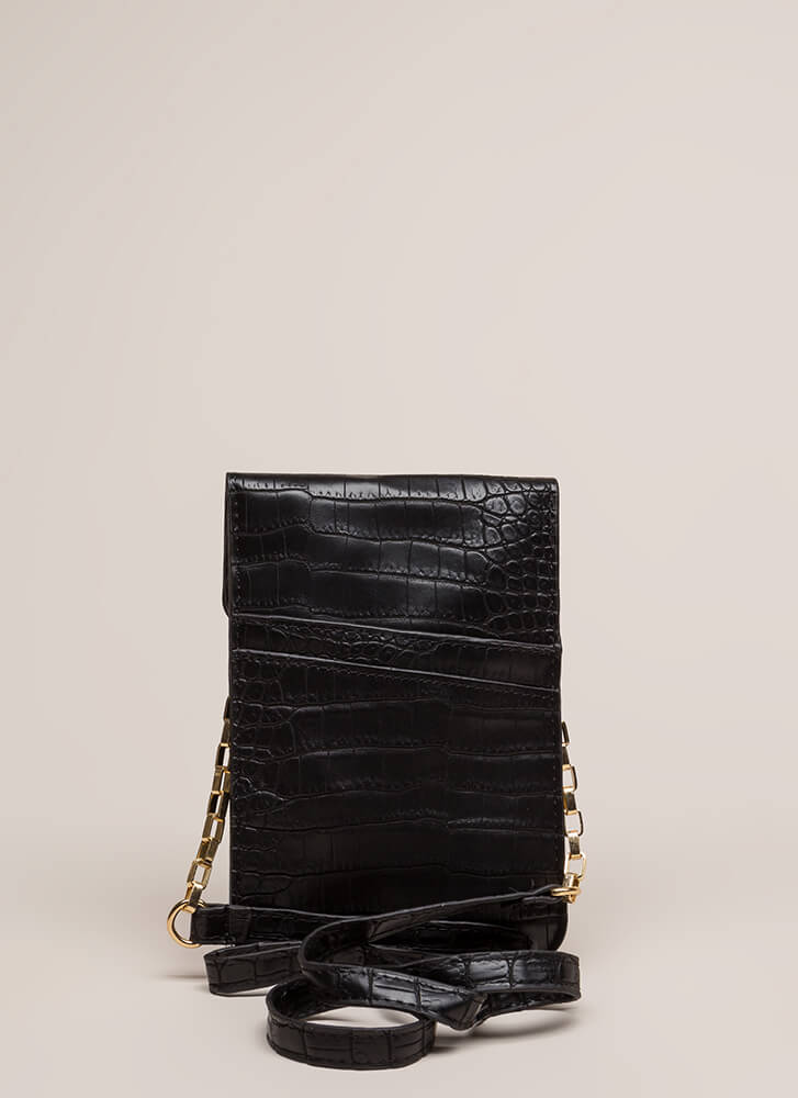 Play The Scales Flat Knotted Mini Clutch BLACK