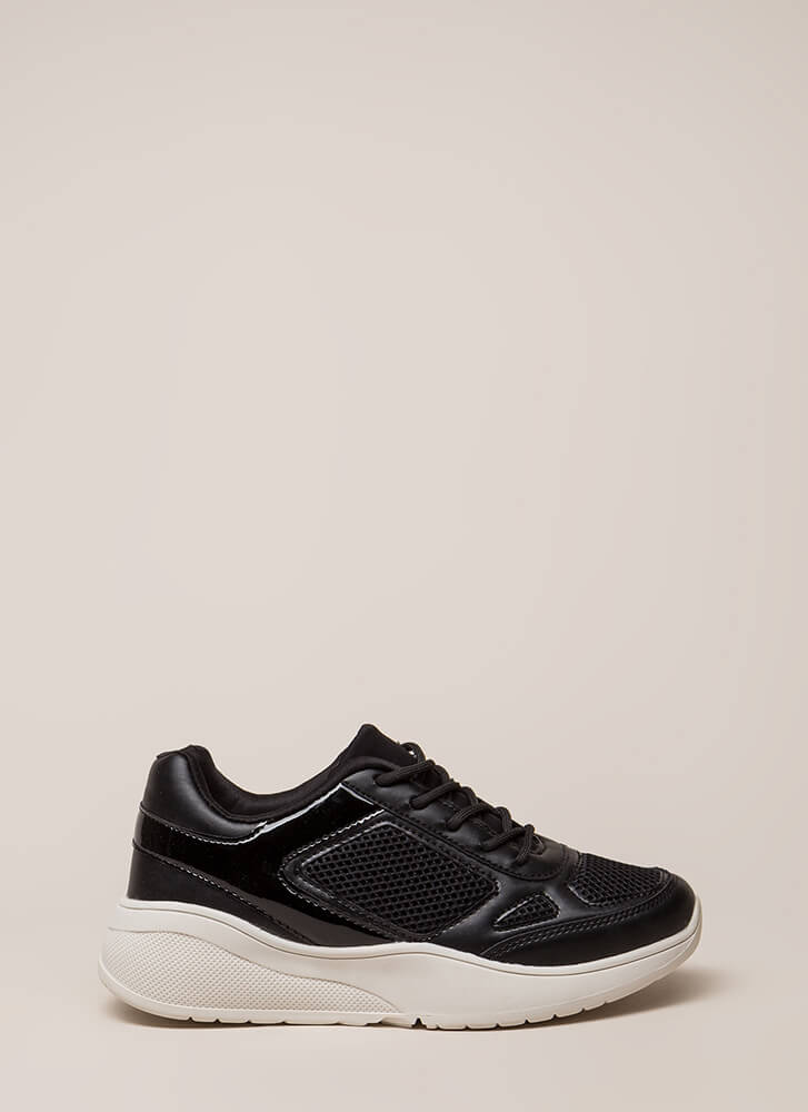 Meshin' Accomplished Platform Sneakers BLACK