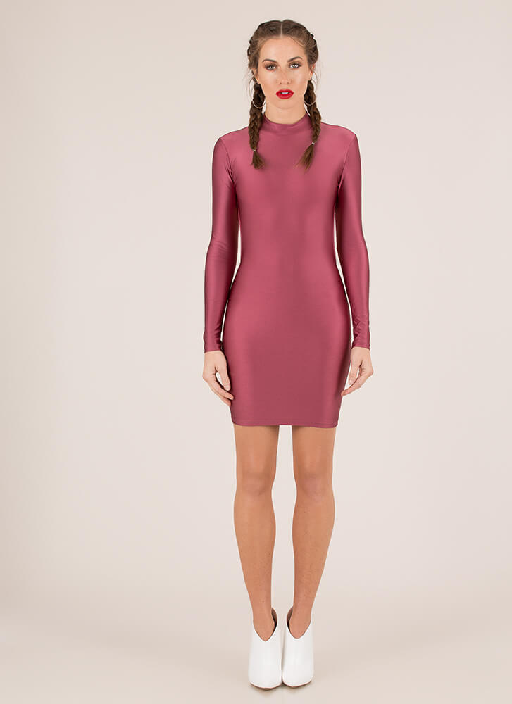 Back At It Cut-Out Nylon Minidress PINK