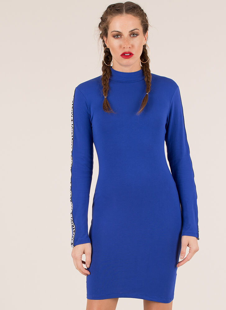 All You Need Is Love Mockneck Dress ROYAL
