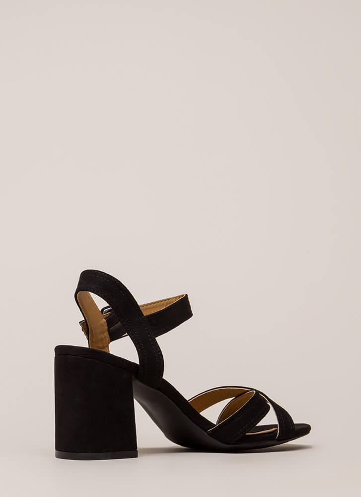 Capsule Collection Strappy Block Heels BLACK (You Saved $17)