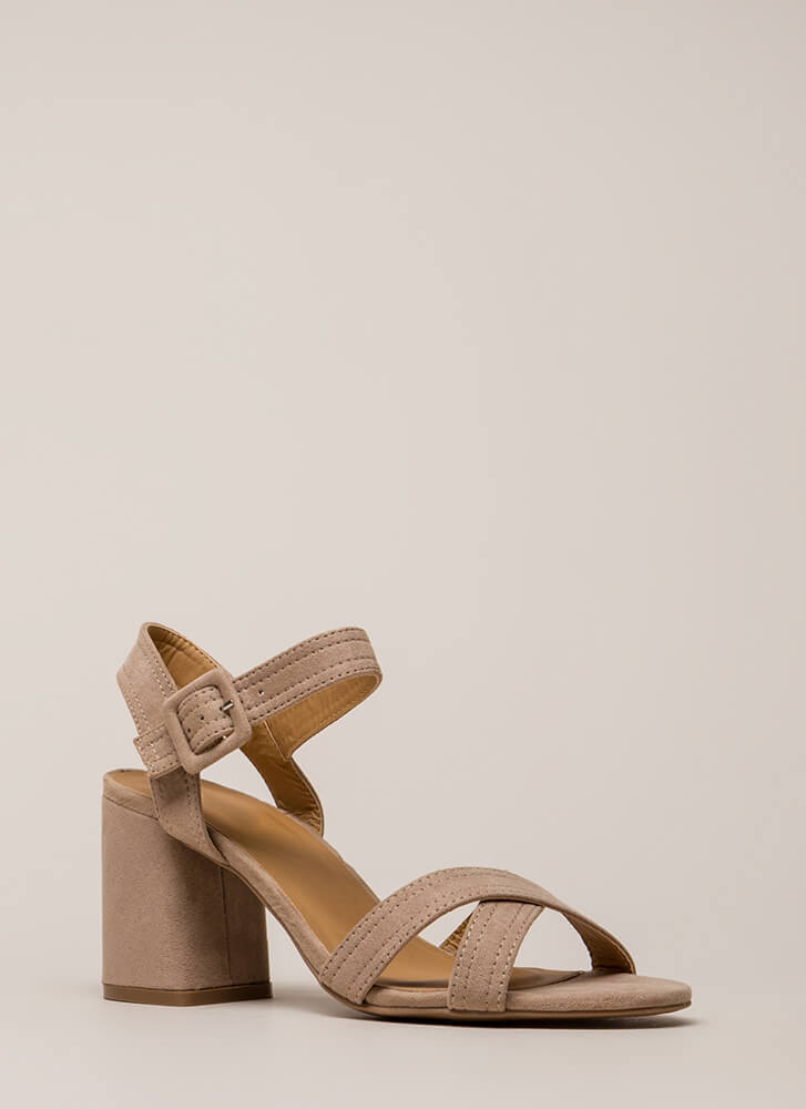 Capsule Collection Strappy Block Heels TAUPE (Final Sale)