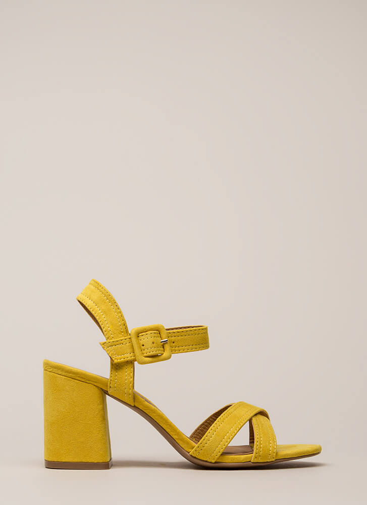Capsule Collection Strappy Block Heels YELLOW (Final Sale)