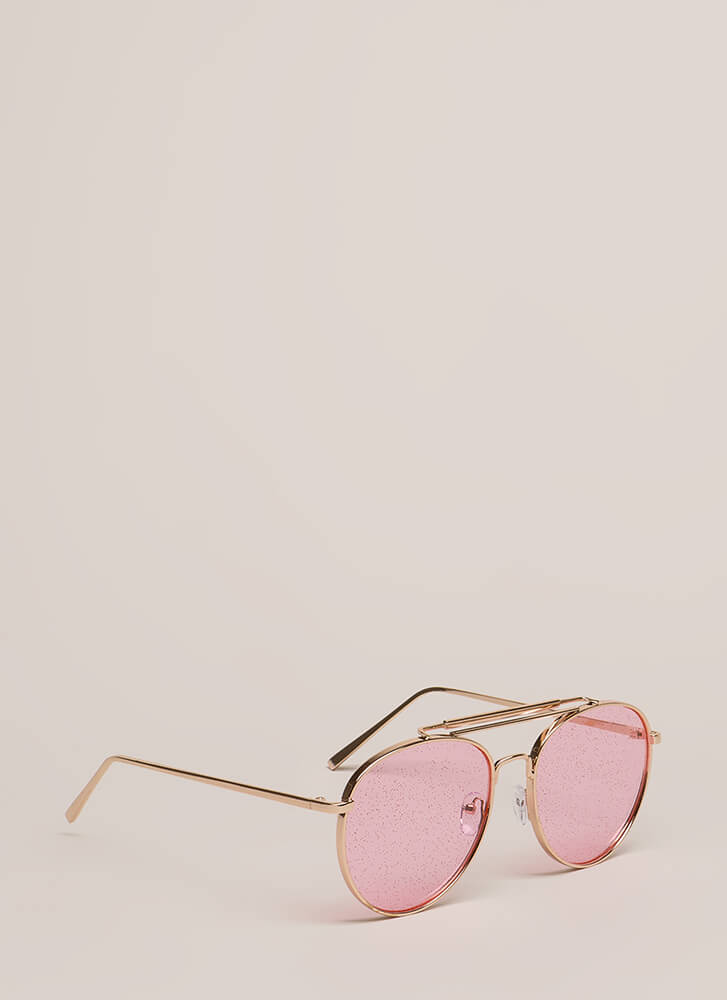 Specks Appeal Brow Bar Sunglasses  PINK