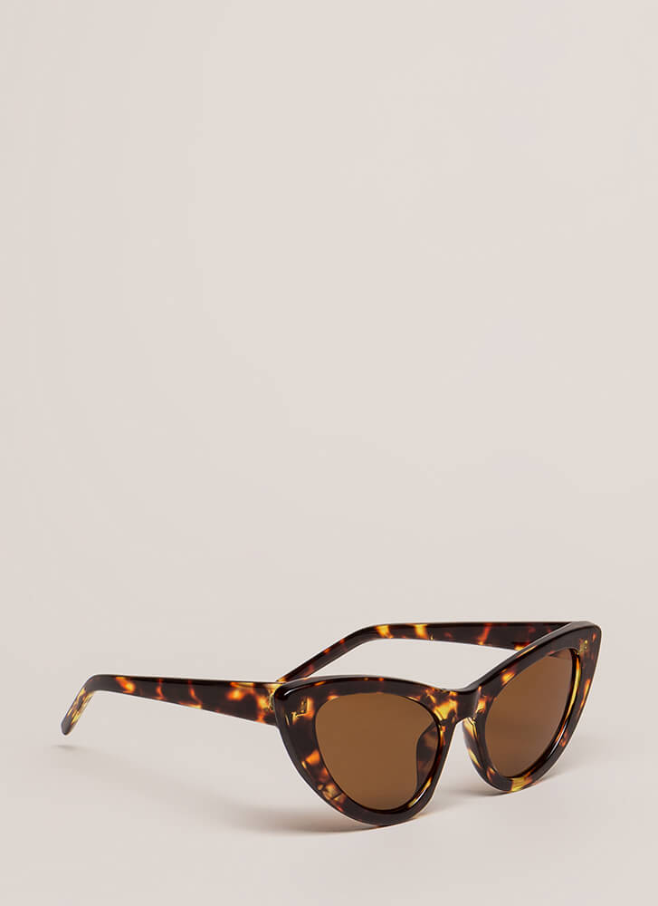 A Flare For Cat Eye Sunglasses LEOPARD