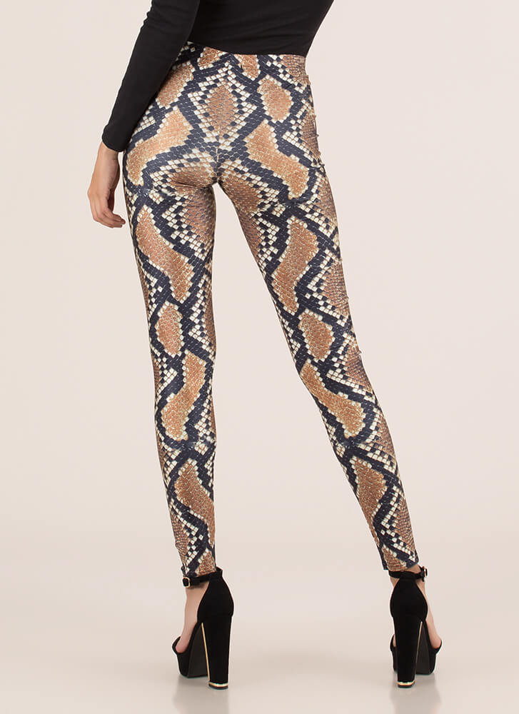 Cold-Blooded Snake Print Leggings SNAKE