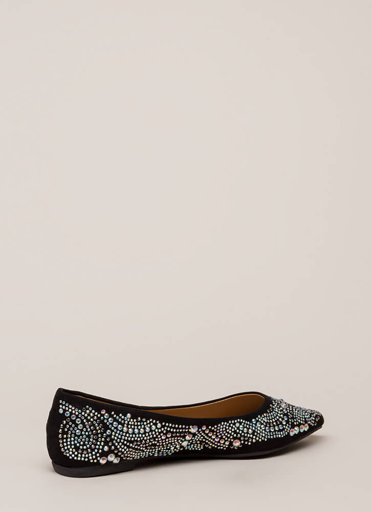 Embellish Your Story Jeweled Flats BLACK