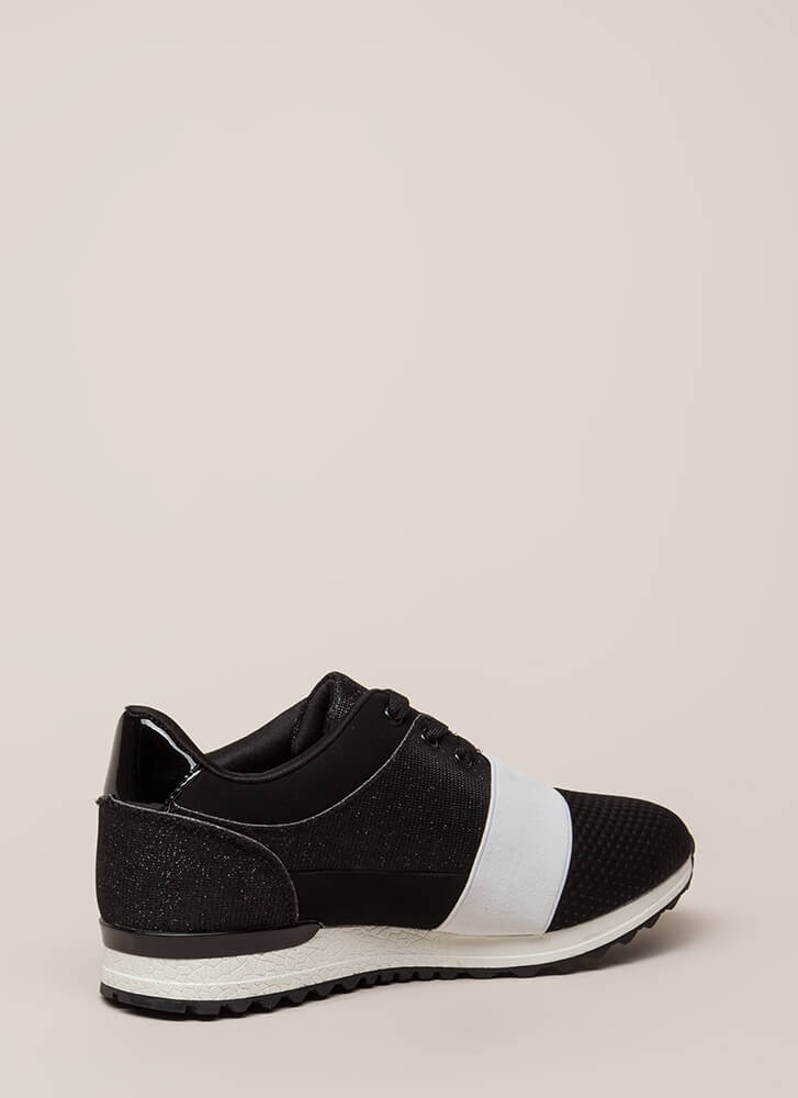 You've Been Band Sparkly Sneakers BLACK