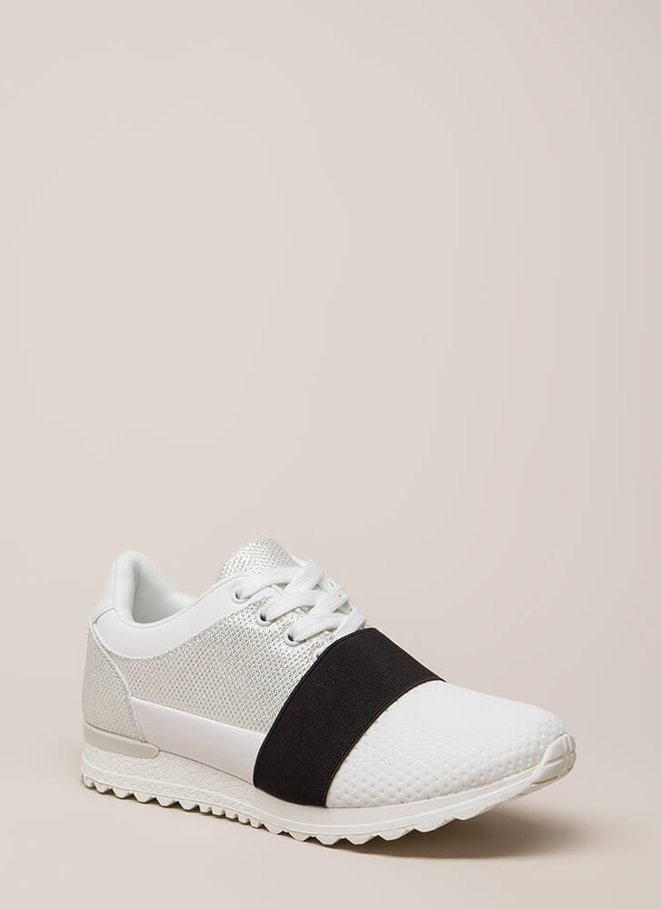 You've Been Band Sparkly Sneakers WHITE