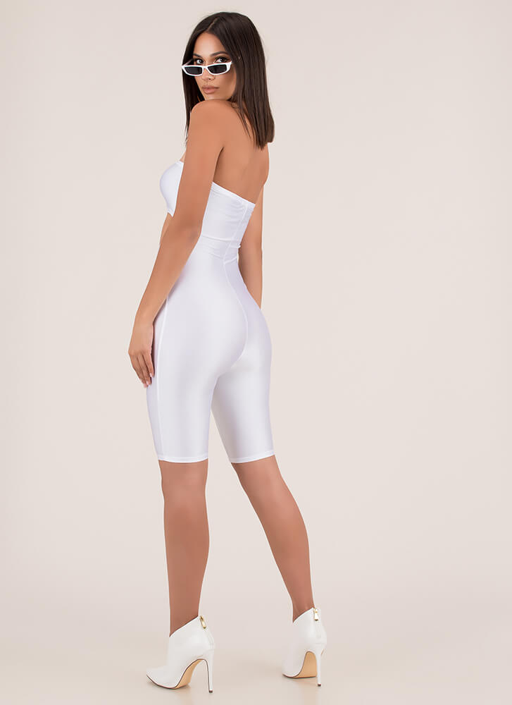 Too Hot To Handle Cut-Out Romper WHITE