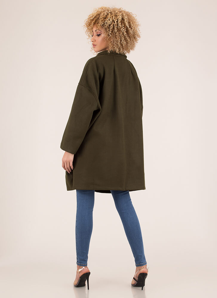 Two Peas In A Pod Oversized Coat OLIVE