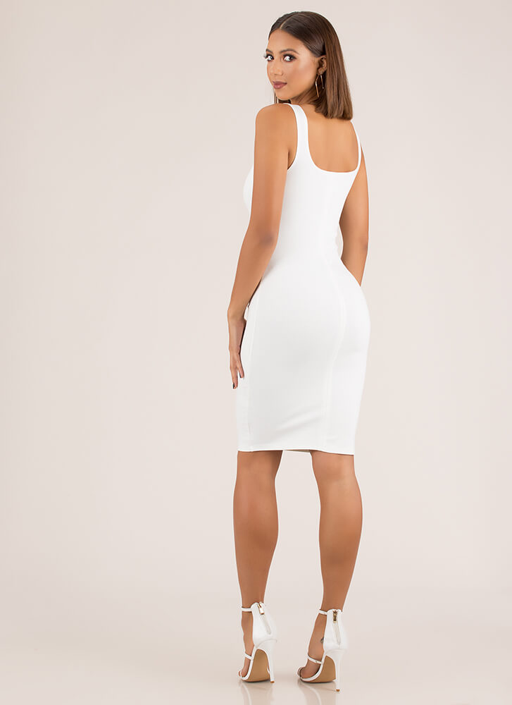 Tank You Very Much Basic Midi Dress WHITE