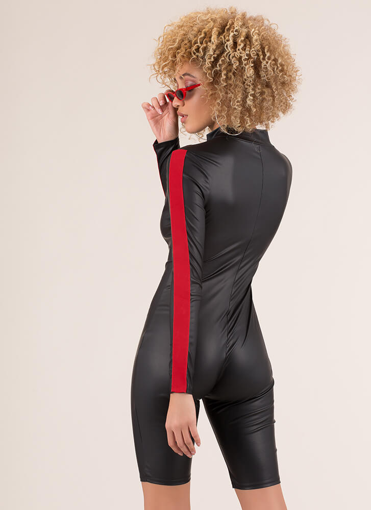 Ready For Takeoff Buckled Romper BLACK