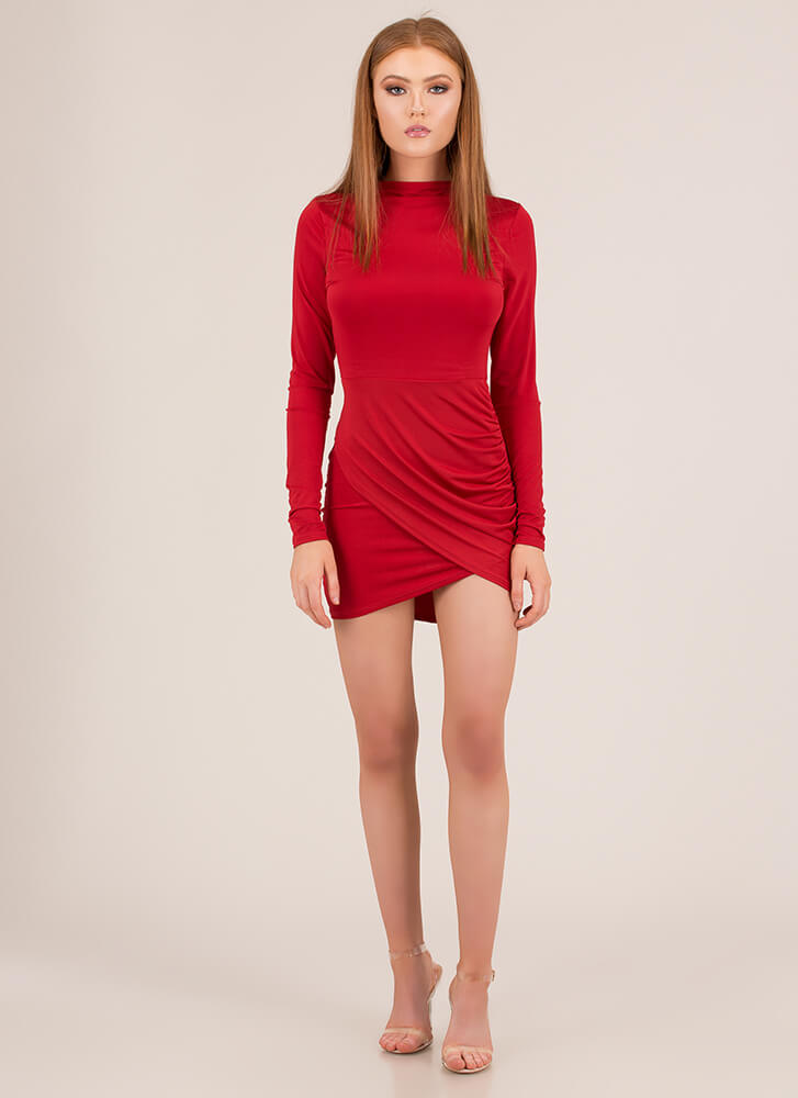 Date Ready Tulip Hem Minidress RED (You Saved $23)