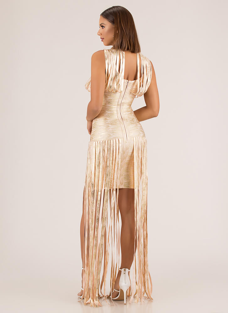 Straps On Straps Metallic Bandage Maxi GOLD (Final Sale)