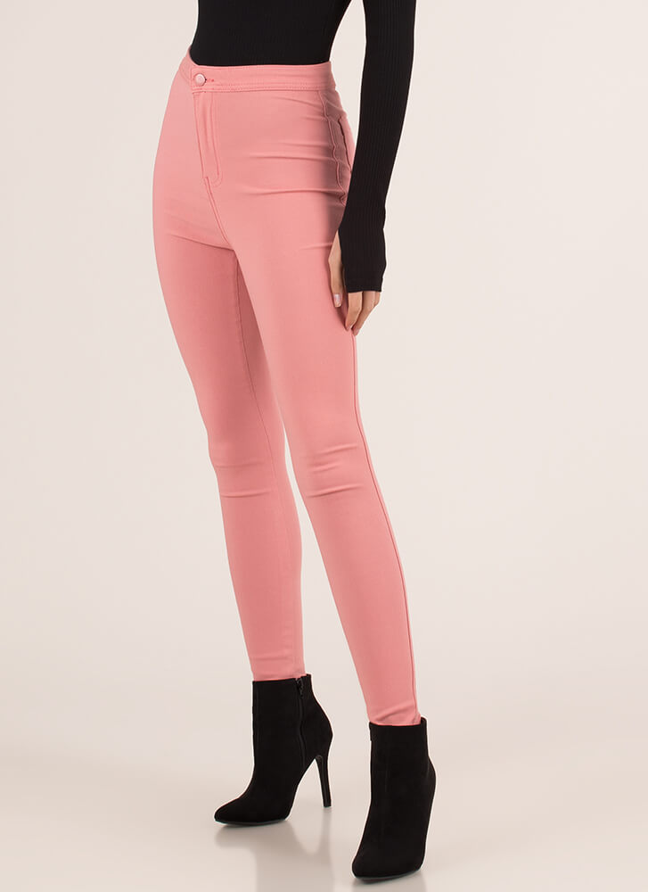 Totally Necessary High-Waisted Jeggings MAUVE