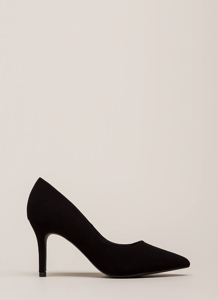 Point Of View Faux Nubuck Pumps BLACK (You Saved $16)