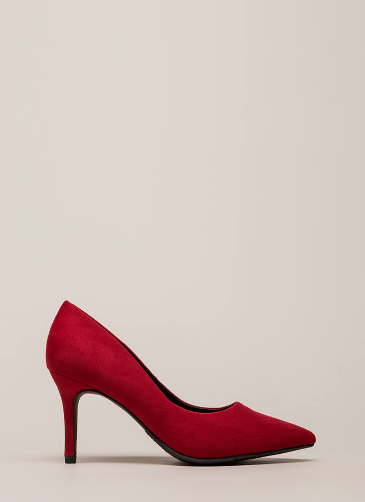 Point Of View Vegan Suede Pumps BRIGHTRED (You Saved $14)