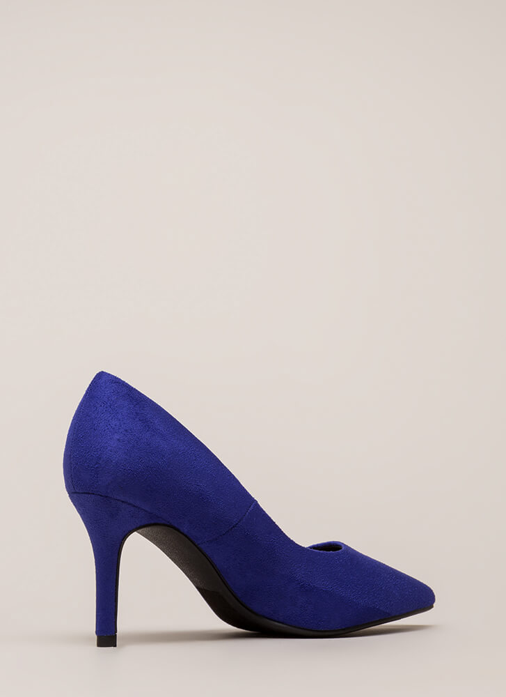 Point Of View Faux Suede Pumps ELECTRICBLUE