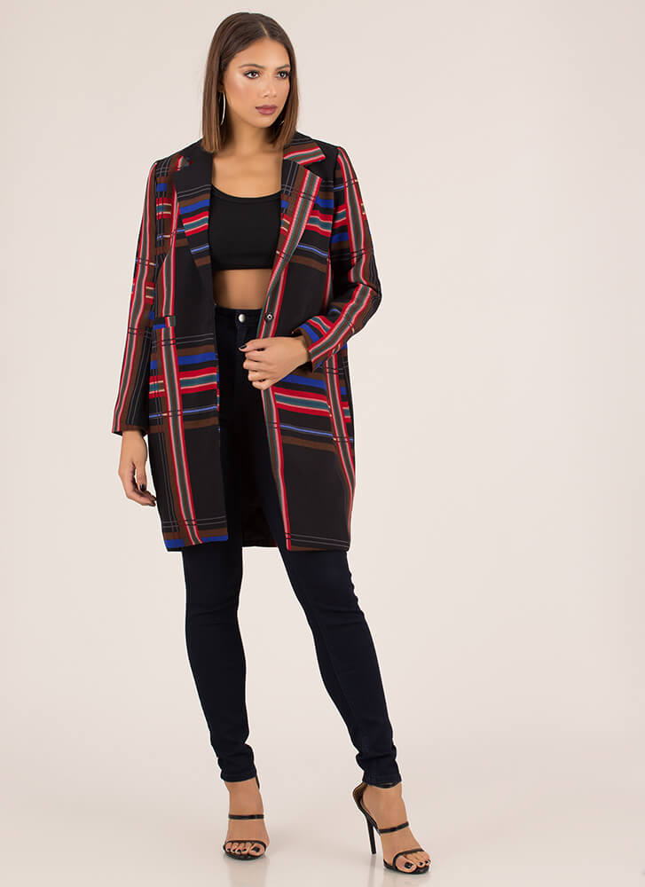 Plaid Suits You Oversized Blazer MULTI