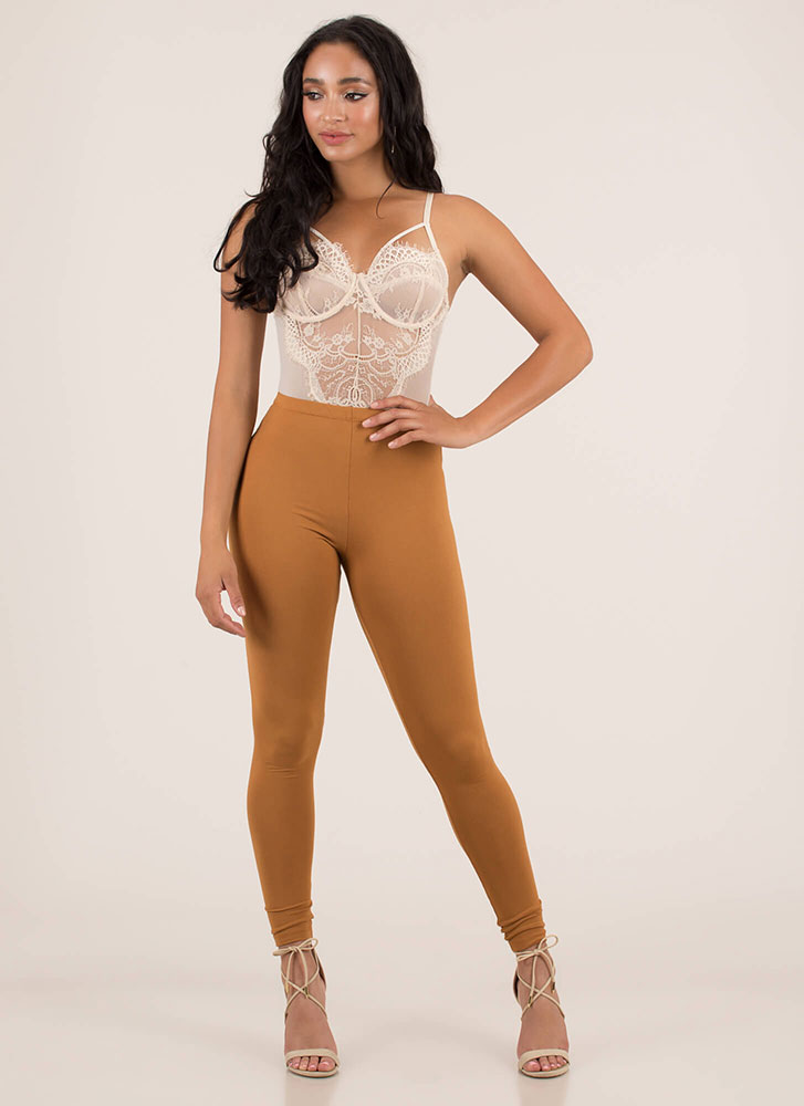 Hot Nights Strappy Lace Bodysuit CREAM