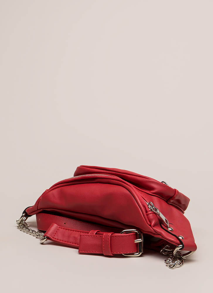 Biker Babe Moto Fanny Pack RED