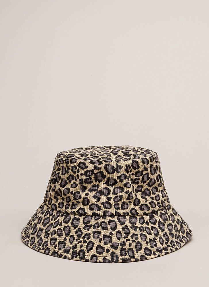 Leopard Is Life Denim Bucket Hat LEOPARD