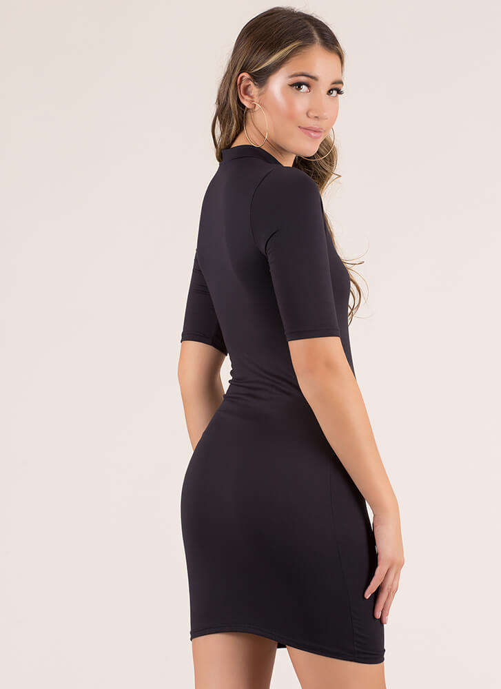 I'll Take One In Every Color Midi Dress BLACK