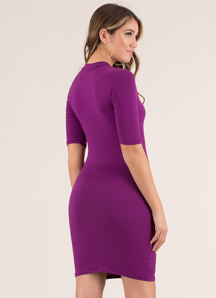 I'll Take One In Every Color Midi Dress PURPLE