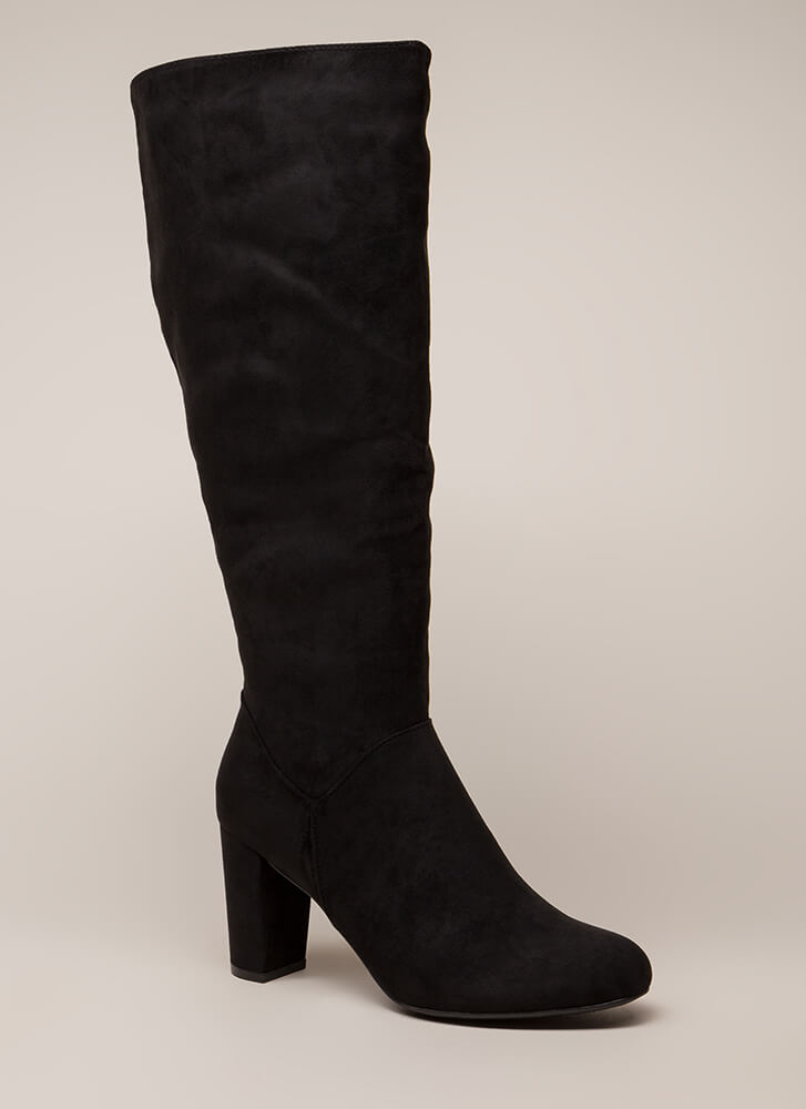 A Star Is Born Chunky Knee-High Boots BLACK