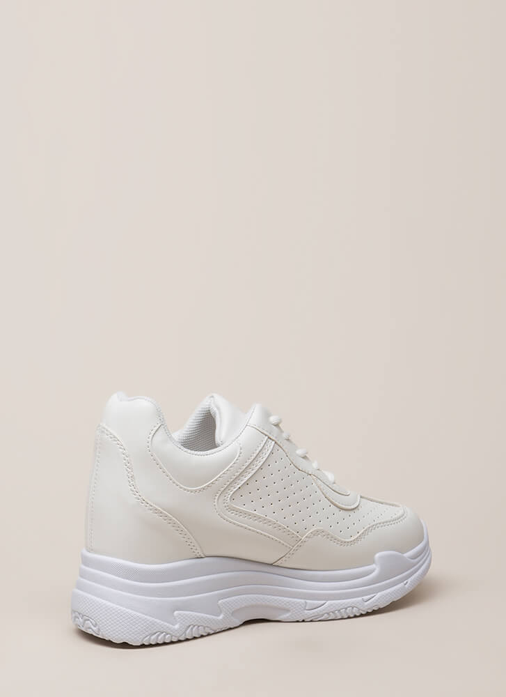 Tennies Game Platform Sneakers WHITE