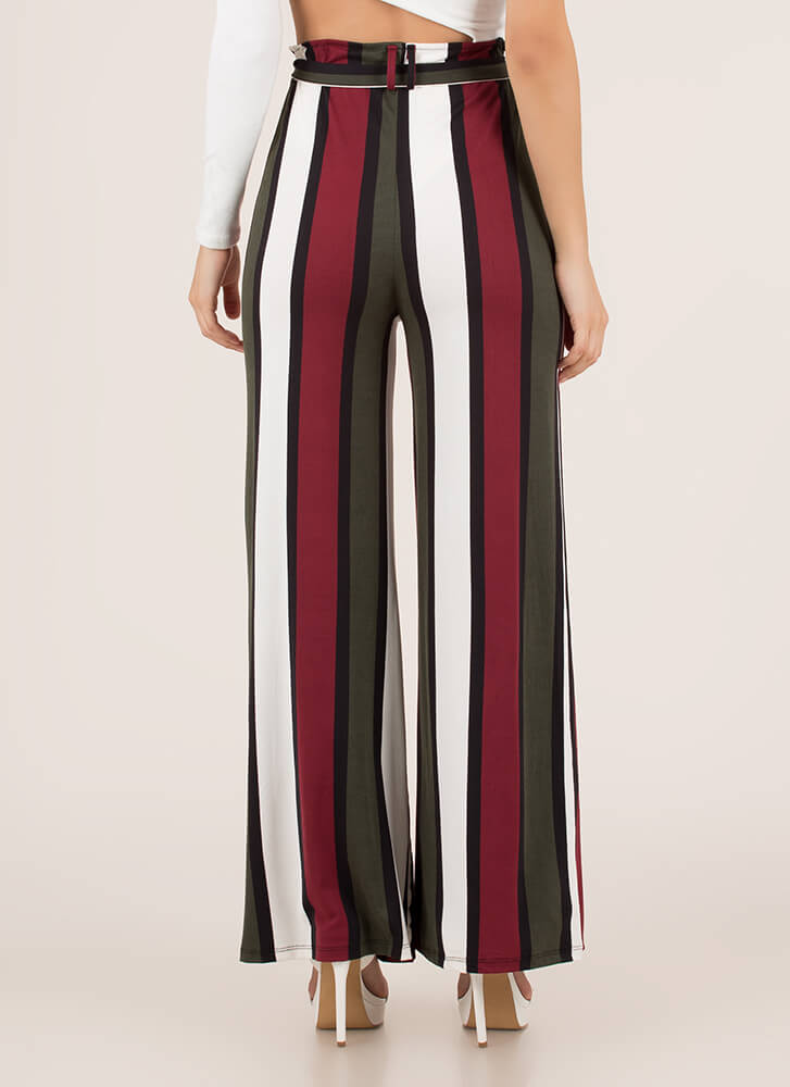 Oh Wide Not Striped Palazzo Pants BURGUNDY (You Saved $10)
