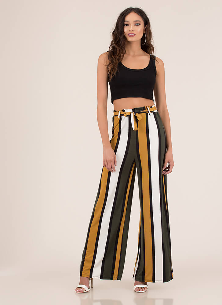 Oh Wide Not Striped Palazzo Pants CAMEL (You Saved $10)