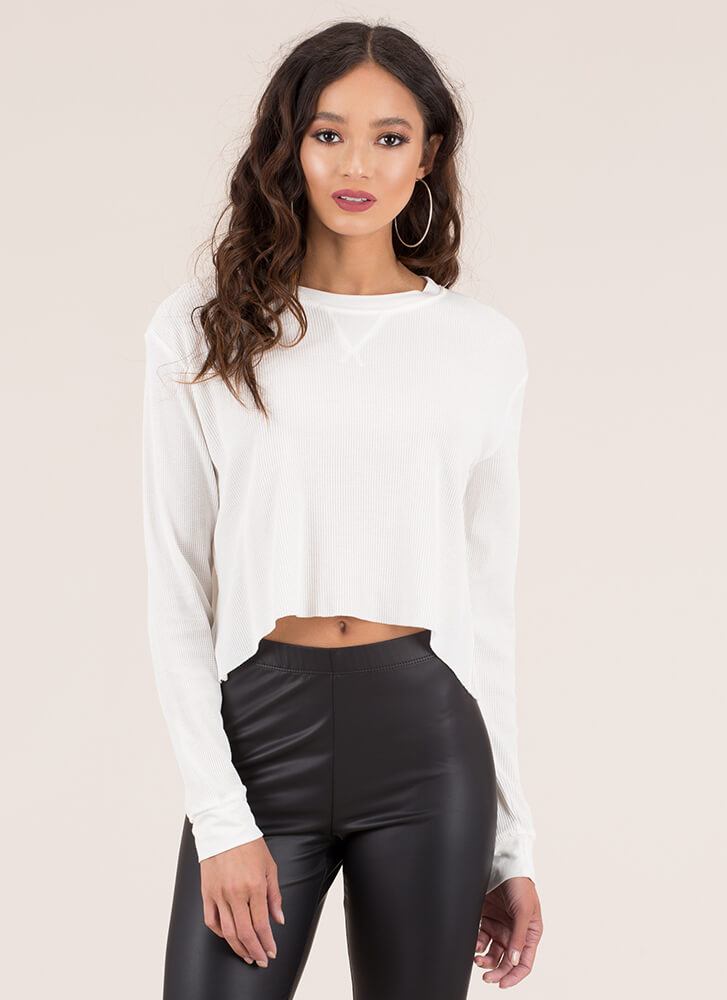 Fashion Is A Basic Need Crop Top WHITE (You Saved $6)