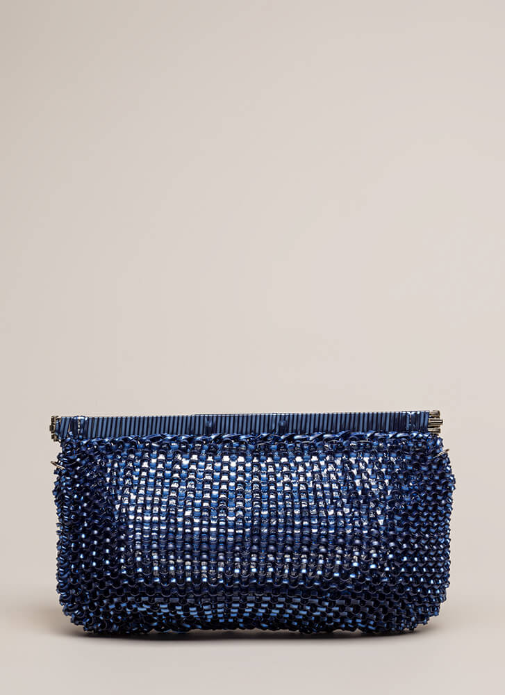 Always In The Loop Woven Clutch BLUE (You Saved $15)