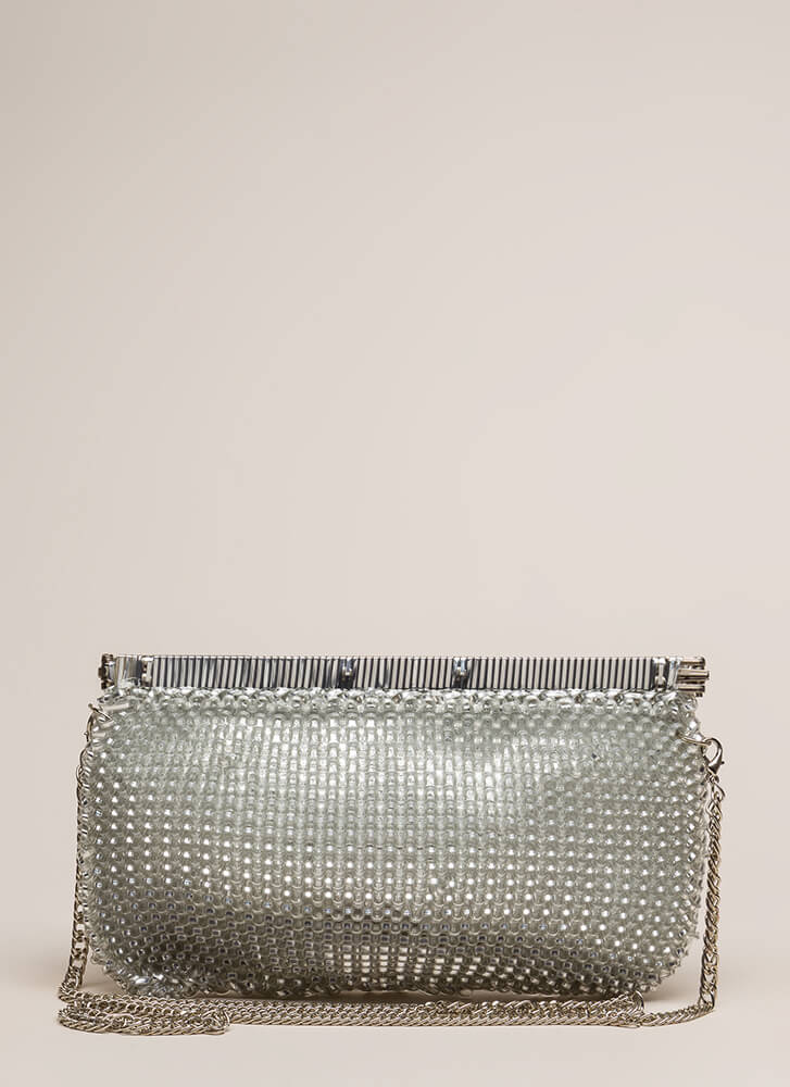 Always In The Loop Woven Clutch SILVER (You Saved $15)