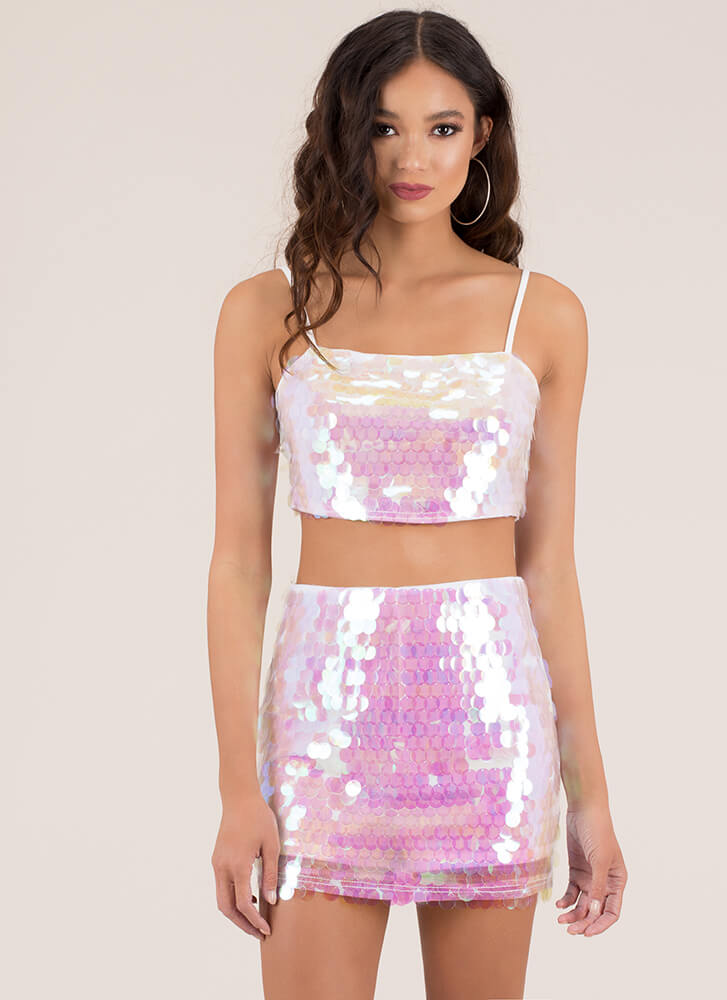 But I'm A Mermaid Sequined Miniskirt MULTI (Final Sale)