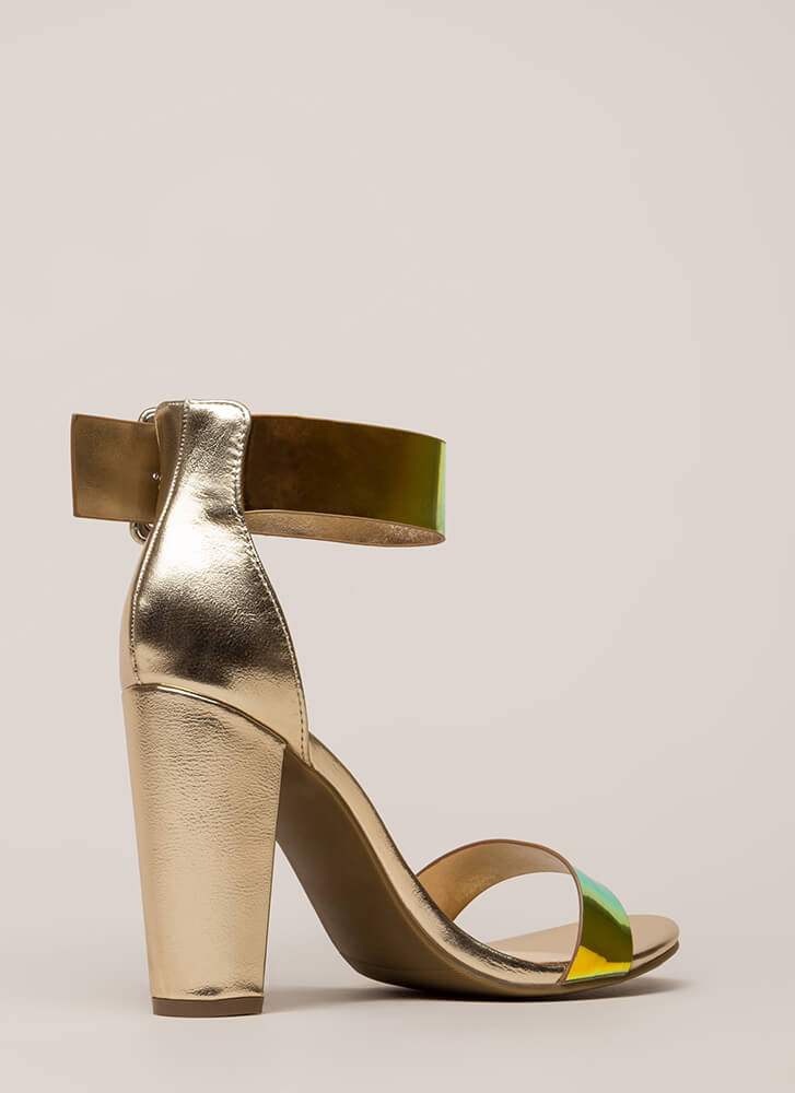 Time To Shine Chunky Metallic Heels MULTI