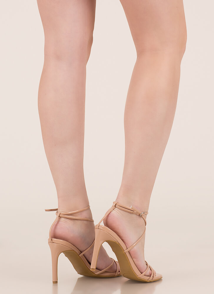 Nothing To Be Desired Strappy Heels NUDE
