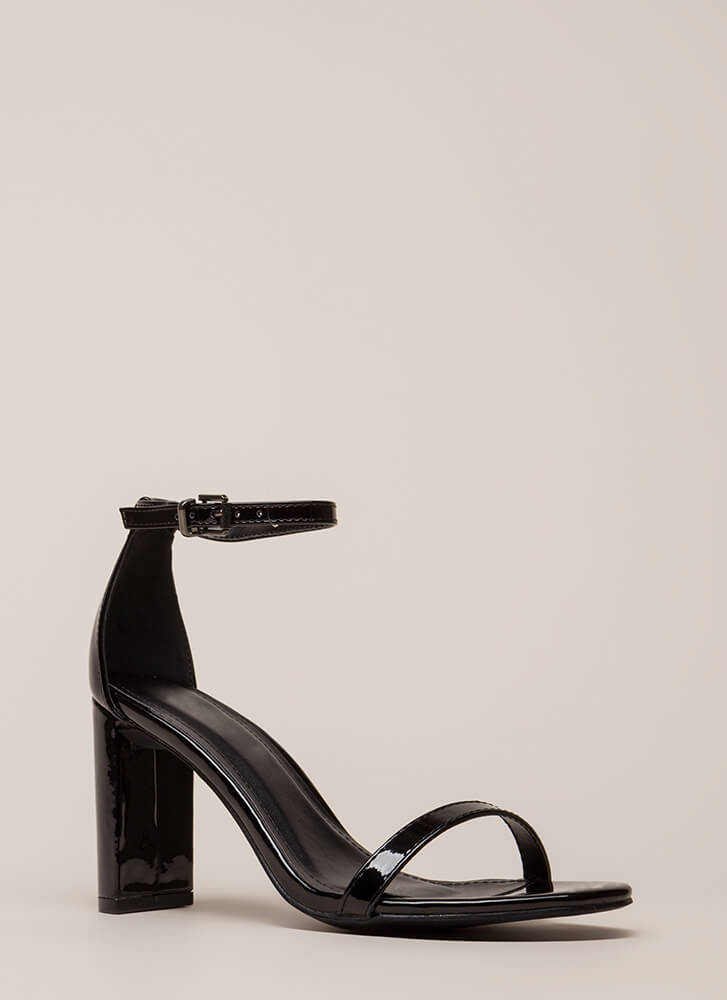 What's The Skinny On Ankle Strap Heels BLACK