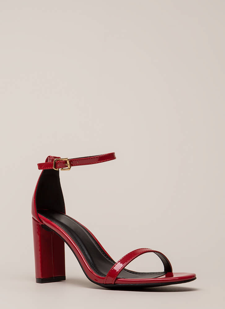 What's The Skinny On Ankle Strap Heels RED