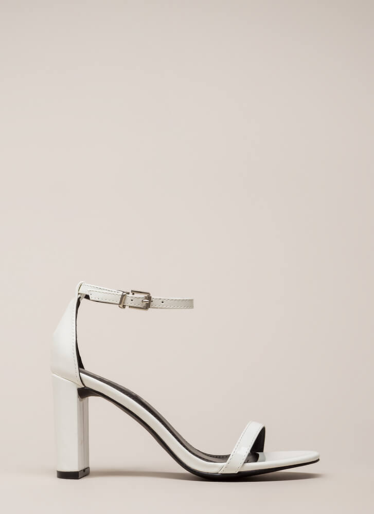 What's The Skinny On Ankle Strap Heels WHITE