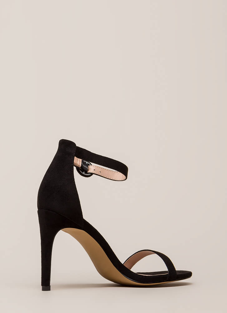 Always And Forever Ankle Strap Heels BLACK