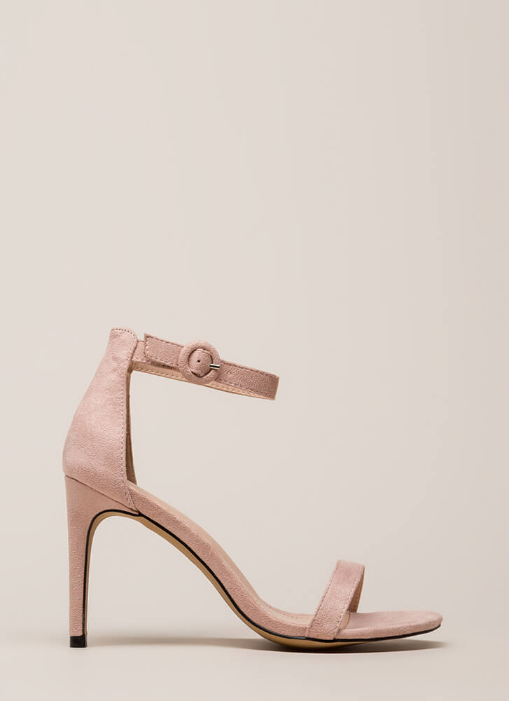 Always And Forever Ankle Strap Heels DUSTYPINK
