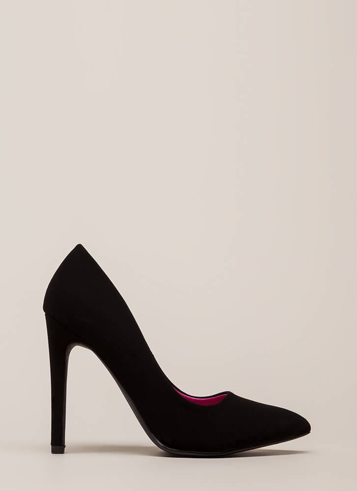 Starting Point Faux Nubuck Pumps BLACK