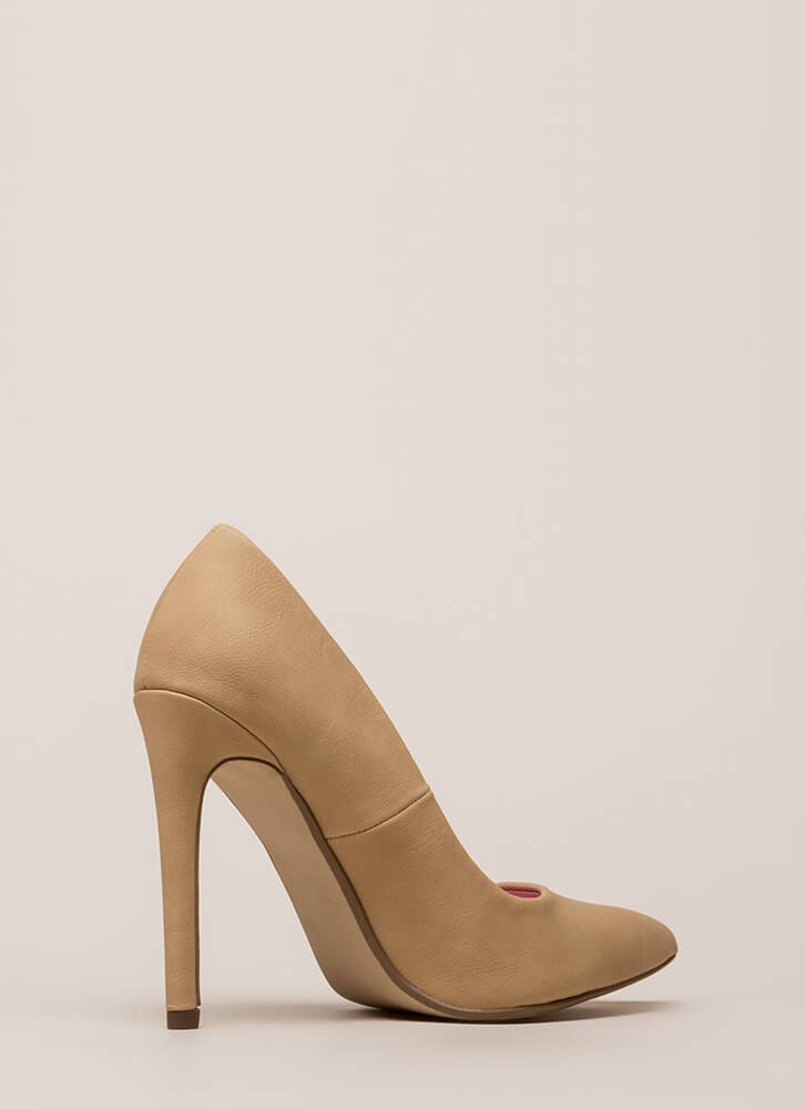 Starting Point Faux Nubuck Pumps NATURAL