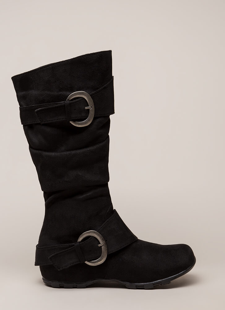 One Two Buckle My Slouchy Boots BLACK
