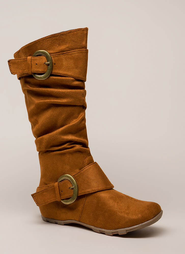 One Two Buckle My Slouchy Boots CHESTNUT