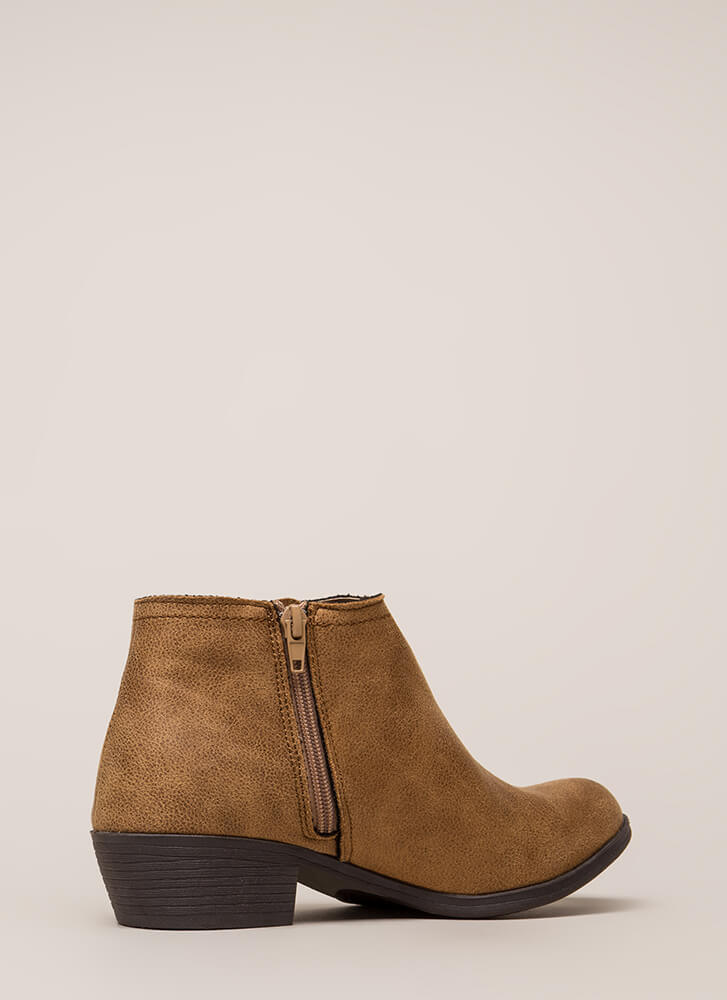 New Favorite Vegan Suede Chelsea Booties TAN